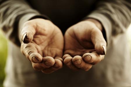 farmer hand Standard-Bild