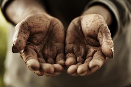 boeren handen Stockfoto