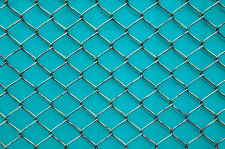 goal cage: fence Stock Photo