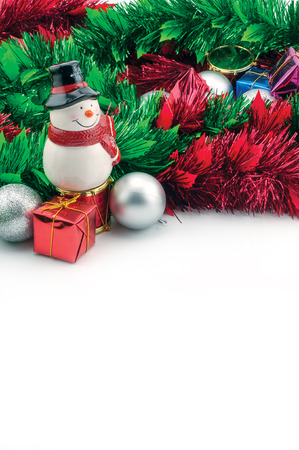dacorated: Composition of the Christmas decorations isolated on white