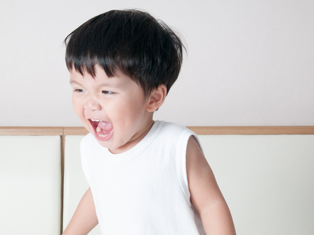 Smile asian toddler boy portrait Standard-Bild