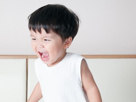Sonrisa asiática niño Retrato del niño Foto de archivo - 58554154