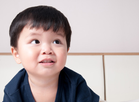 gasp: Smile asian toddler boy portrait Stock Photo