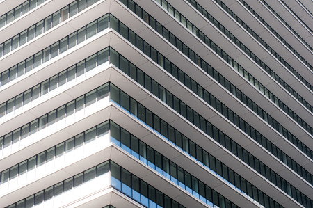 residential: exterior of glass residential building. Stock Photo