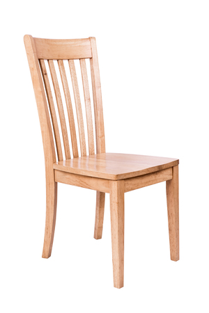 antique furniture: Wooden chair isolated on white background. Stock Photo