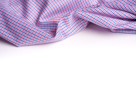 Blue and pink tartan or plaid  on white background