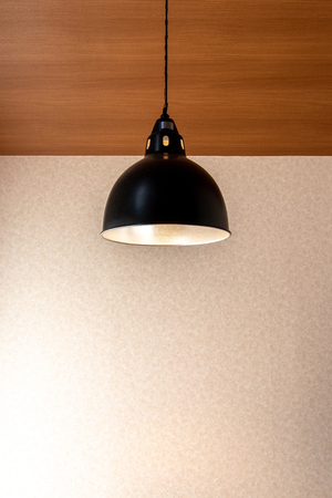 light lamp electricity hanging decorate home interior Stock Photo