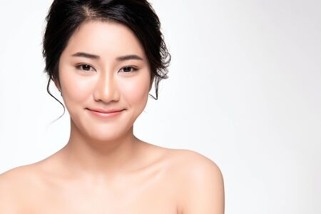 Beautiful Young Asian Woman with Clean Fresh Skin. Reklamní fotografie