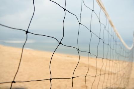 volleyball net on a beach