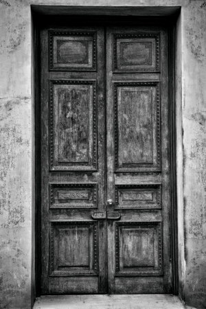 Antique door, Black and White photo