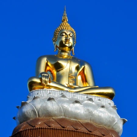 Buddha image at temple in Thailand
