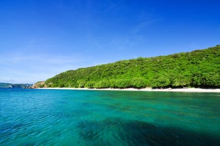 Beautiful blue sea and green island Stock Photo - 17065260