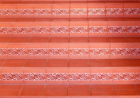 A abstract stairs with ceramic tiles. photo