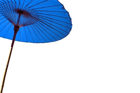 Thai traditional umbrella isolated on white background. Right space for your text. Stock Photo - 17065374