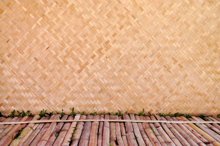 Bamboo wood texture ,Thai handwork photo