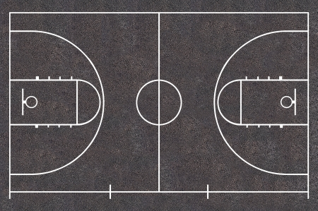 Basketball court floor plan Asphalt Texture, Street Basket ball