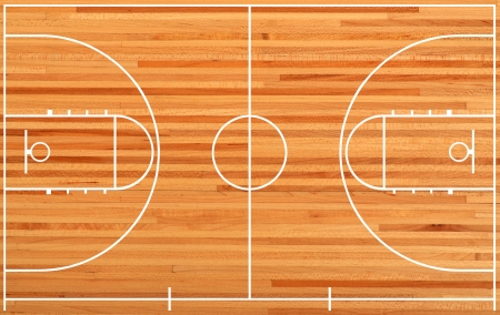 Basketball court floor plan on parquet background Фото со стока - 17066678