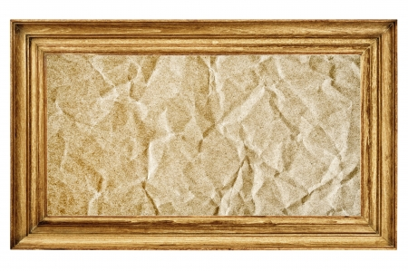 Antique photo frame with paper background photo