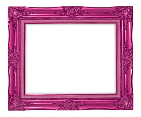 louise: Antique photo frame on the white background