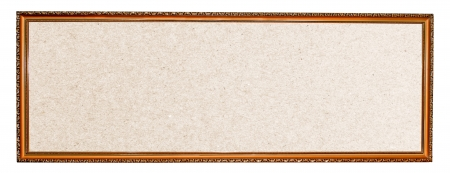Antique photo frame on the white background photo
