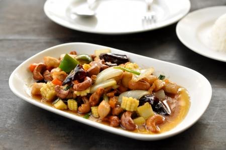 Thai food,stir fired chicken with cashew nuts