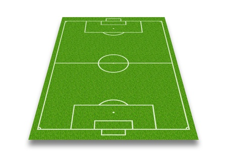 voetbalveld of voetbalveld