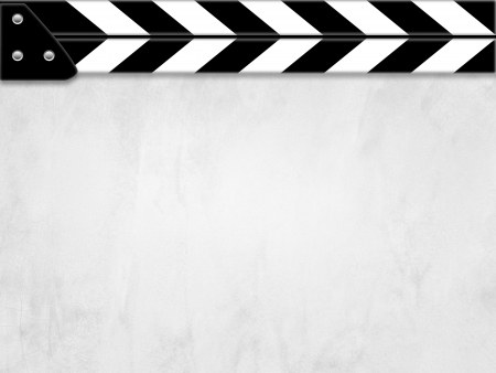 Clapper board or slate white board with texture Stock Photo