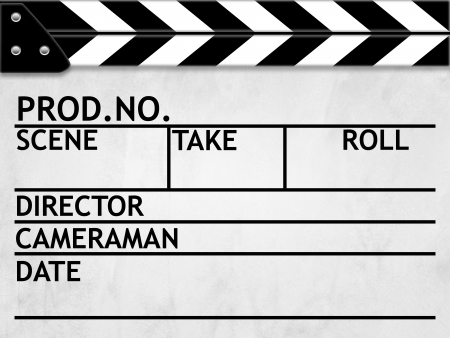 Clapper board or slate white board with texture photo