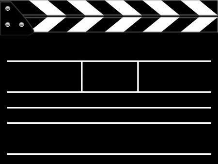 Clapper board or slate black board Stock Photo