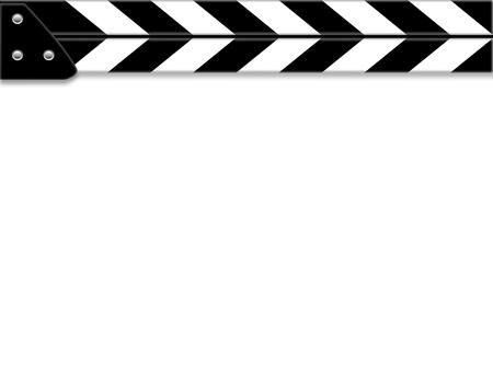 クラッパー ボードやスレートのホワイト ボード 写真素材