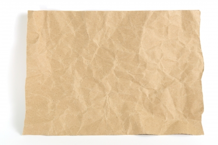 paper cutout: Paper texture  Brown paper sheet  on white background Stock Photo