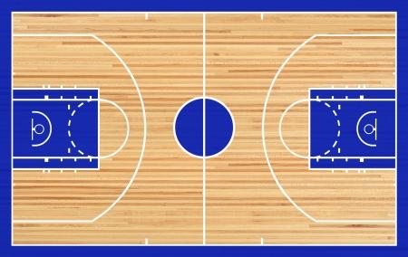 cancha de basquetbol: Baloncesto planta judicial en el fondo de parquet Foto de archivo
