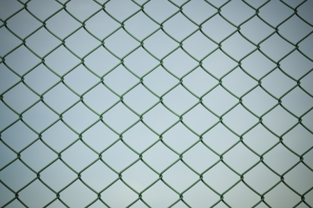 chained link: Wire mesh Stock Photo