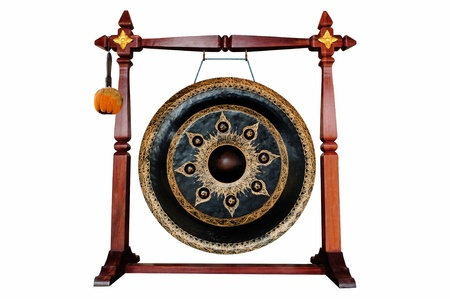 Thai native Gong isolated on white background  photo