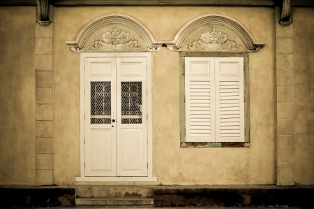 glass doors: Vintage door and windows