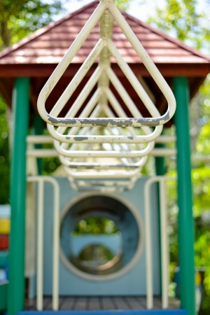 Monkey bars in playground. photo