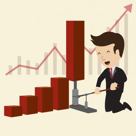 Business grafiek concepten Vector Stock Illustratie
