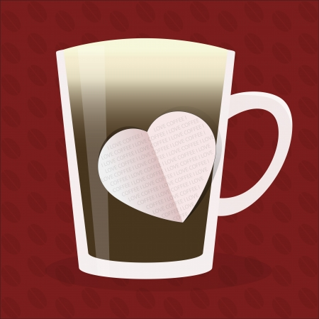 Coffee love  Vector design Vector