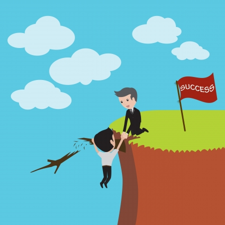 fiscal cliff: Businessman in risk management  Vector