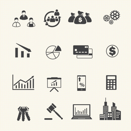 internet banking: Business and Finance Icons Illustration