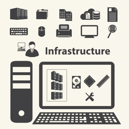 System infrastructure and Virtualization management control  Cloud computing concept Фото со стока - 22764454
