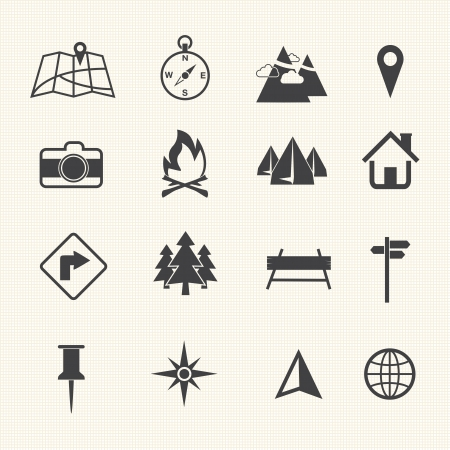 satellite navigation: Iconos del Mapa y Ubicaci�n Iconos