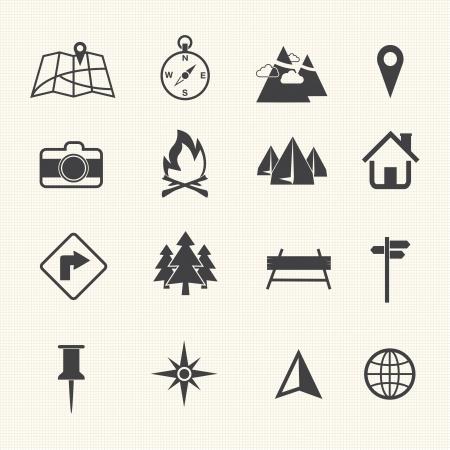 Kaart Pictogrammen en Locatie Pictogrammen