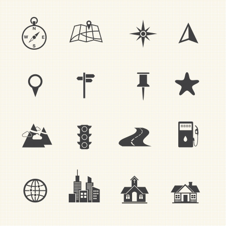 road sign: Map Icons and Location Icons
