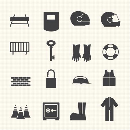 electrocute: Safety icons set  Illustration