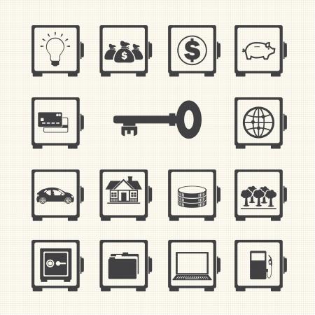 Safe icon set