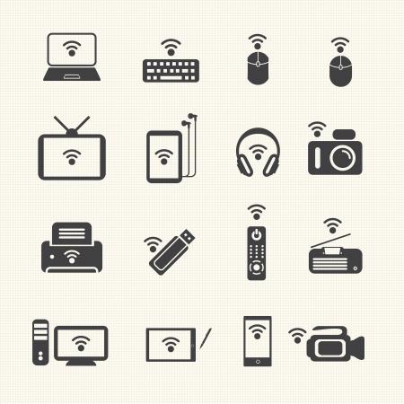 Wireless technology  Wireless equipment Иллюстрация