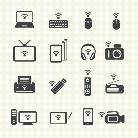 Wireless technology  Wireless equipment Illustration