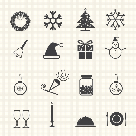 Christmas Winter and Celebration set  Vector