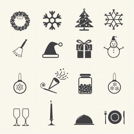 xmas tree: Christmas Winter and Celebration set  Illustration